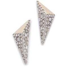 Alexis Bittar Two Tone Pyramid Earrings (8,345 INR) ❤ liked on Polyvore featuring jewelry, earrings, alexis bittar, pyramid jewelry, pyramid earrings, earrings jewellery and geometric earrings