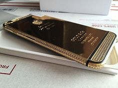 Apple iPhone 6 Plus - 128GB - 24K Mirror Gold/Black Plated Limited Edition with Diamond Crystals Customized Smartphone - International/Factory Unlocked, http://www.amazon.com/dp/B00Z07LMXM/ref=cm_sw_r_pi_awdm_AOAzxbMK8XRHY
