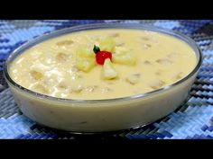 Mousse, Cheeseburger Chowder, Soup, Pudding, Cake, Desserts, Youtube, Pudding Desserts, Delicious Desserts