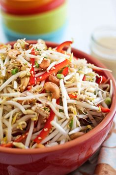Cashew Bean Sprout Salad by Sonia! The Healthy Foodie Bean Sprout Salad, Bean Sprout Recipes, Sprouts Salad, Bean Sprouts, Asian Recipes, Healthy Recipes, Ethnic Recipes, Healthy Options, Healthy Foods