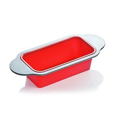 PROFESSIONAL QUALITY NON-STICK BREAD MOLD PAN – Perfect size for even cooking and great results; bread, meatloaf, pound cake, fruit cake, endless recipes and treats NON-STICK SILICONE – Features textured surface for no-mess release, easy to clean, dishwasher safe; FDA approved food-grade red silicone, BPA-free, non-toxic; safe in oven and freezer EXCEPTIONAL DESIGN – High quality steel frame (mold) includes convenient handles, makes cooking easier and safer,