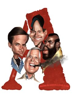 #TheATeam #caricature by www.alexgallego.com