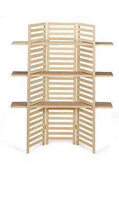 3 Panel Display With 3 Shelves ---Shelving choice #2