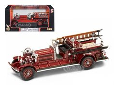 1925 Ahrens Fox N-S-4 Fire Engine Red 1/43 Diecast Car Model by Road Signature   Car Intensity