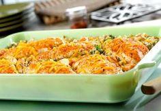 chicken, seasoned rice & vegetable casserole