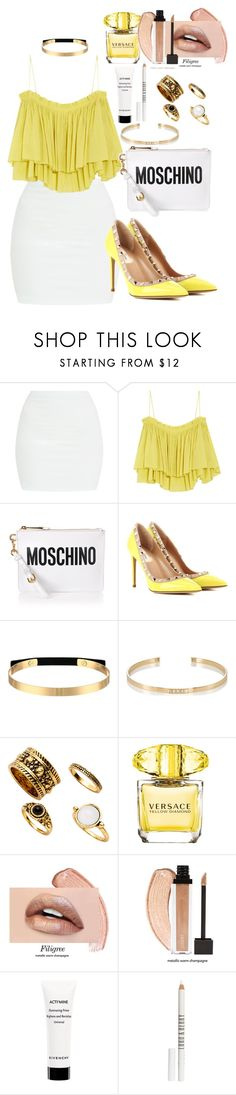 """""""Untitled #544"""" by dreamer3108 on Polyvore featuring Apiece Apart, Moschino, Valentino, Steve Madden, Ileana Makri, Versace, Givenchy and Lord & Berry"""