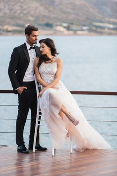 Dream of the Impossible is the inspiration for this urban, magical styled Athens Riviera photo-shoot. Where the Greek sea meets the sky, start dreaming! Greek Sea, Wedding Moments, Athens, Real Weddings, Dress Outfits, Romantic, Glamour, Photoshoot, Formal Dresses