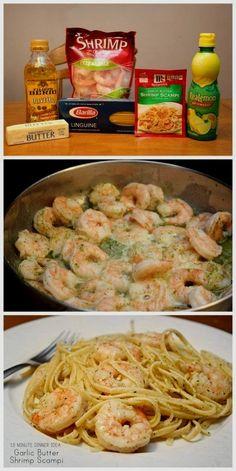 Make Garlic Butter Shrimp Scampi In 15 Minutes! Make Garlic Butter Shrimp Scampi In 15 Minutes! food food ideas recipes healthy food food recipes - Make Garlic Butter Shrimp Scampi In 15 Minutes! Easy Homemade Recipes, Spicy Recipes, Easy Dinner Recipes, Seafood Recipes, Healthy Recipes, Healthy Food, Easy Shrimp Recipes, Shrimp Dinner Recipes, Easy Meal Ideas