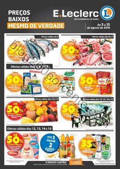 Novo Folheto E-LECLERC Rana promoções de 5 a 15 agosto - http://parapoupar.com/novo-folheto-e-leclerc-rana-promocoes-de-5-a-15-agosto/