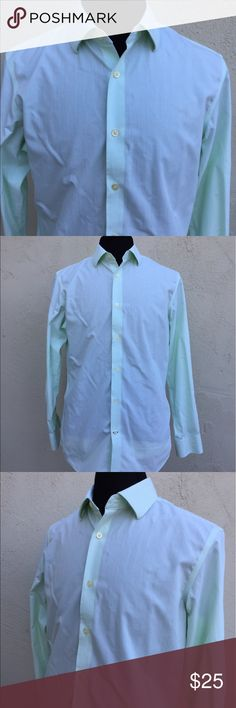 Banana Republic Slim Fit button down Shirt - M Banana Republic Slim Fit button down Shirt - Size Medium in a bright green color micro checkered pattern. Gently used, in very good condition. Thanks for visiting. Banana Republic Shirts Dress Shirts