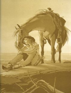 *Great artwork (by Olivier Vatine) Angela and her horse <3