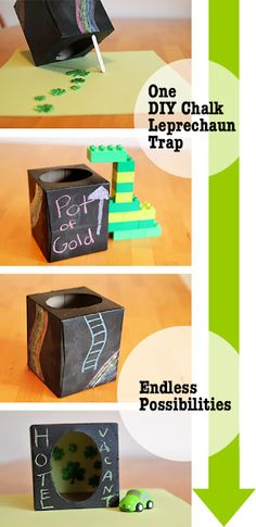 10 Ways to Catch a Leprechaun Chalk Trap. We used to do this when I was younger.