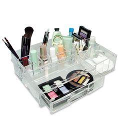 Ikee Design Luxury Cosmetic Makeup Acrylic Organizer, Clear
