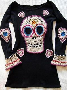 2222.- Crochet: Día de los muertos.