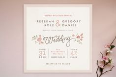Romantic Rustic Wedding Invitations