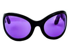 Purple Lens Gothic Vampire Sunglasses Oversized Sexy Glasses