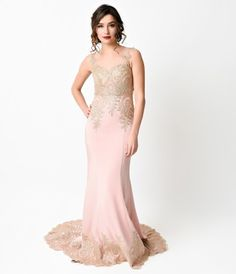 Straight out of the past, this glamorous gilded vintage dress style is 1930s starlet incarnate. Soft satin clings to the...Price - $278.00-lBVuqZS4