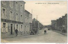 "CPA FRANCE 79 ""Cerizay, la rte de Bressuire, Hotel de France"""
