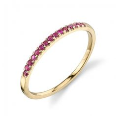 Starling Jewelry Colette Thin Pavé Band