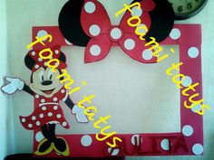 Marco minnie mouse rojo