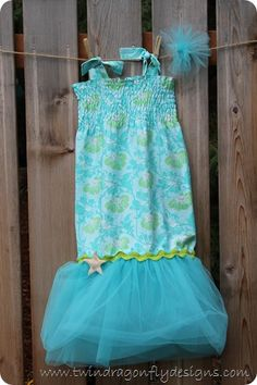 Mermaid Bubble Dress - love the tulle!