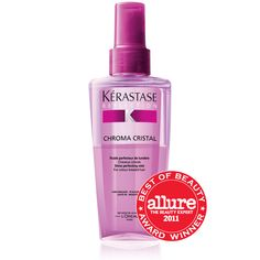 Kerastase Chroma Cristal ... An incredibly lightweight shine mist for color-treated hair.