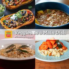 Vegetable Main Dishes #SundaySupper