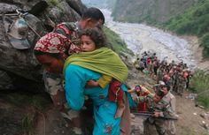 Himalaya 'tsunami' shows need for science in disaster plans. rescue operations at Govindghat, Uttarakhand, June 2013 Posted by floodlist.com