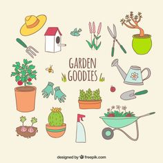 Garden goodies Free Vector Photoshop World, Free Photoshop, Photoshop Ideas, 4 Year Old Activities, Book Activities, Activity Books, Garden Illustration, Pencil Illustration, Ikea Kids Playroom