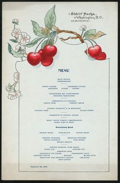 I have a restaurant menu circa 1900 to share with you that I find really pretty. The menu was from a hotel called Ebbitt House in Washington D. French Restaurant Menu, Resturant Menu, Restaurant Poster, Restaurant Menu Design, French Restaurants, Hotel Menu, Restaurant Identity, Restaurant Restaurant, Candy Yams