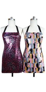 STUN everyone in your home with a set of two FABULOUS Fully Sequined Aprons. Normally priced at US$ 90 for the pair plus shipping, we're offering them at the amazing introductory price of only US$ 69 per pair AND giving you FREE UPS shipping!