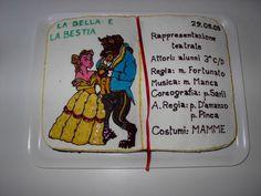 torta libro recita bella e la bestia