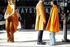 See the most eye-catching wide-legged pants, graphic prints and more from Sydney, Australia's Mercedes-Benz Fashion Week Australia Spring 2015 shows here. Sydney Fashion Week, Mercedes Benz, Camel Coat, Off Duty, All Fashion, Wide Leg Pants, Kimono Top, Street Style, My Style