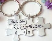 10 Year Anniversary Gift, Anniversary Puzzle Piece Keychains, Keychain for Him, His Hers keychains, Personalized Couples Keychains 10 Year Anniversary Gift, Anniversary Boyfriend, Anniversary Ideas, Gifts For Your Boyfriend, Gifts For Him, Boyfriend Ideas, Personalized Mother's Day Gifts, Diy Gifts, Grandmother Gifts