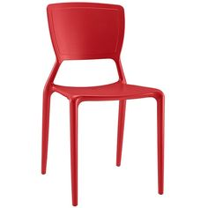 Fine Dining Side Chair in Red