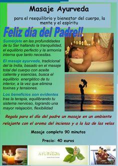 Masaje ayurvedico día del padre http://www.danaki.es/masajes-dia-del-padre/