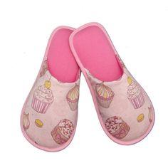 Pantufa Cupcakes Rosa