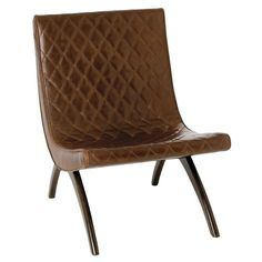 Danforth chestnut quilted top grain wood chair