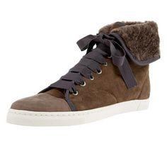 LANVIN sheep fur sneaker