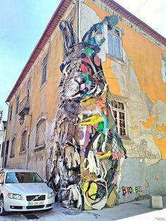street art in Vila Nova de Gaia by Bordalo II