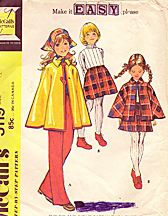 1972 Girls Cape, skirt, and pants