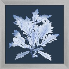 This striking Blue Seagrass Print adds subtle style to any space. A beautifully framed piece of art has a huge impact on a room for relatively low cost!