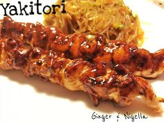 ollo, salsa d'ostriche, Cucina Giapponese, verdure, mirin, yakitori, salsa di soia, salsa Yakitori, spaghetti di soia con verdure croccanti, spaghetti di soia, kikkoman, spiedini di pollo