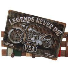 Legends Never Die Chic Motorcycle Metal Tin Sign Bar Pub Tavern Garage Plaque(China (Mainland)) Tin Signs, Metal Tins, Online Gallery, Legends, Garage, Motorcycle, Bar, Boy Shorts, Chic