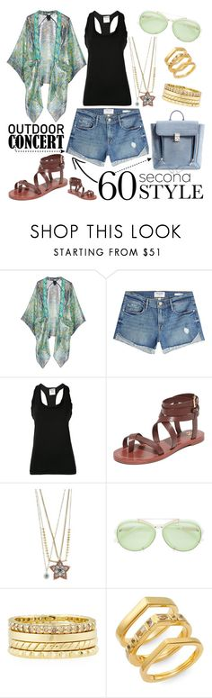 """""""Outdoor Concerts - 60 Second Style"""" by marielle80 ❤ liked on Polyvore featuring Anna Sui, Frame, SEMICOUTURE, Tory Burch, Gerard Yosca, 3.1 Phillip Lim, Penny Preville and Elizabeth and James"""