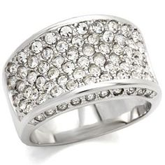 Designer Inspired Pave Setting Top Grade Crystal Ring Size 7 | Hope Chest Jewelry