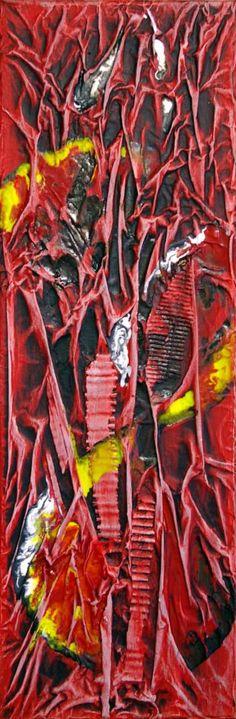 "Saatchi Art Artist Ysa Casse; Painting, ""Rouge II"" #art"
