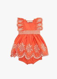 4e5c856be66 Stella McCartney Kids Foxglove Baby Girl Eyelet Dress Stella Mccartney  Kids
