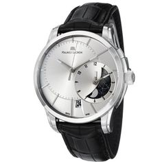 Maurice Lacroix Men's PT6118-SS001131 Pontos Silver Dial Watch Maurice Lacroix. Save 41 Off!. $3089.99. Swiss automatic movement. Stainless steel case. Water-resistant to 50 M (165 feet). Date and moon phase. Sapphire crystal
