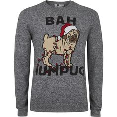TOPMAN Grey Salt And Pepper 'Bah Humpug' Jumper (120 BRL) ❤ liked on Polyvore featuring men's fashion, men's clothing, men's sweaters, grey, mens cotton crew neck sweaters, mens cotton sweaters, mens slim fit sweaters, mens crew neck sweaters and mens grey sweater
